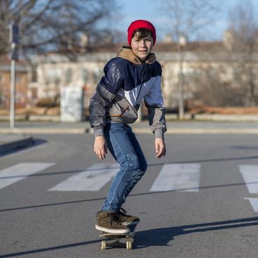 Ein Skater in Stuttgart