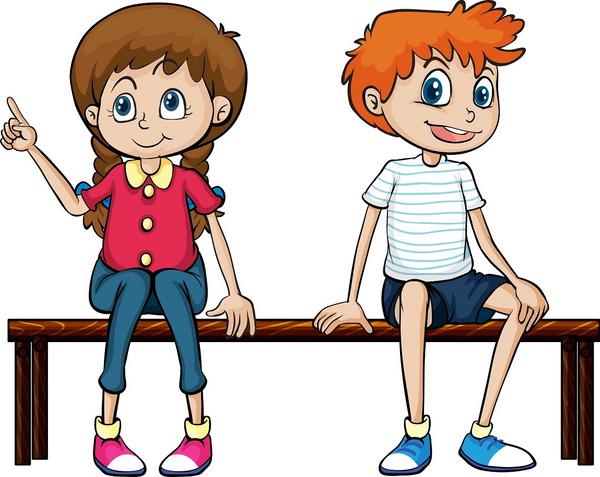 Maedchen und Junge aktivitet COLOURBOX5624719